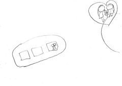 橘田いずみによる「スペースゆりップ」のイラスト。
