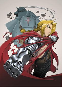 2003年から2004年にかけてオンエアされた、テレビアニメ「鋼の錬金術師」のキービジュアル。© 荒川弘/スクウェアエニックス・毎日放送・アニプレックス・ボンズ・電通2003