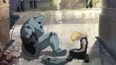 アニメ「鋼の錬金術師 FULLMETAL ALCHEMIST」第5話「哀しみの雨」より。ファンイベントにて、釘宮は好きなシーンとして、傷の男(スカー)との初めての戦いのあと、ケンカをするエドとアルのシーンをセレクトした。©荒川弘/鋼の錬金術師製作委員会・MBS