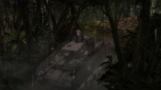 「『ガールズ&パンツァー 最終章』第2話」では、雨の密林で戦いが繰り広げられた。