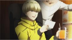 小野賢章演じる榎田。ネットカフェを根城にしている情報屋で、かつては海外のハッカー集団に所属していた。