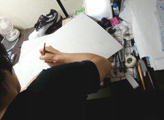 濱田浩輔の仕事机。