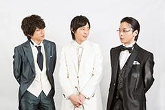 左から黒井由伸役の山田裕貴、高森純平役の塚本高史、井筒渡役の中村倫也。