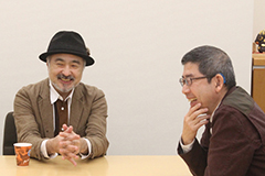 左から松尾スズキ監督、いがらしみきお。