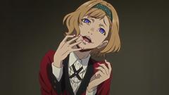 アニメ「賭ケグルイ」第2話に登場する皇伊月。