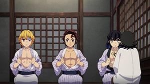 アニメ「鬼滅の刃」第14話より。
