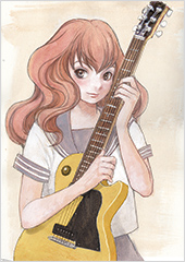 「空電ノイズの姫君」より、磨音のカラーカット。©冬目景/幻冬舎コミックス