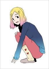 「彼女のひとりぐらし 大盛」より、理香のカラーカット。©玉置勉強/幻冬舎コミックス