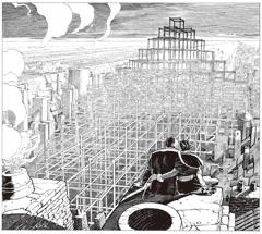 ブノワ・ペータース、フランソワ・スクイテン「闇の国々」カット©Benoît Peeters, François Schuiten, Casterman, Shogakukan-Shueisha Productions Co., Ltd.