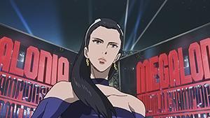 アニメ「メガロボクス」より、白都ゆき子(CV:森なな子)。