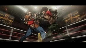 """アニメ「メガロボクス」Blu-ray BOX第1巻に特典として収録される、新作ショートアニメ「""""BEFORE THE ROUND ONE""""」より。"""