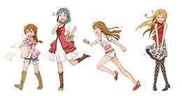「アイドルマスター ミリオンライブ!」カット。左から馬場このみ、徳川まつり、高坂海美、篠宮可憐。