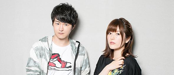 左から逢坂良太、加隈亜衣。