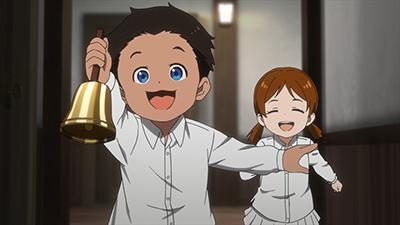 アニメ「約束のネバーランド」第8話より。