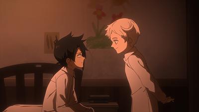 アニメ「約束のネバーランド」第5話より。