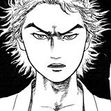 サブロー怒りの表情。池上遼一にも諸星大二郎にも似ているようで、しかし誰とも似ていない画風。