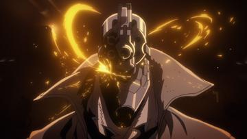 アニメ「ノー・ガンズ・ライフ」第2話より。十三の体は対拡張者(エクステンド)用の弾丸すら弾くように作られている。