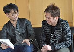 (左から)小島秀夫と箕星太朗。
