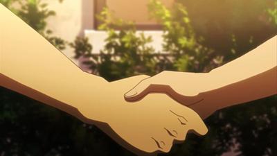 第16話「本物の握手」より。