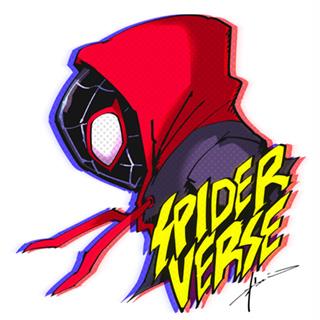 映画を大絶賛する武井宏之が描き下ろしたスパイダーマンたち。