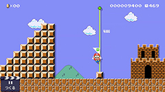 沢田ユキオの特製コースをクリアすると入手できる、沢田ユキオ版のマリオくん。© 2015 Nintendo