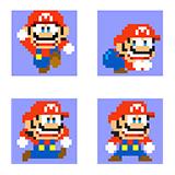 """沢田ユキオの特製コースをクリアすると入手できる、沢田ユキオ版のマリオくん。""""プリ尻(ケツ)""""も再現されている。© 2015 Nintendo"""