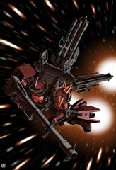 ジオン側の主役級キャラクターが搭乗するモビルスーツ。