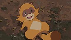 アニメ「有頂天家族2」PVより、矢三郎の狸の姿。