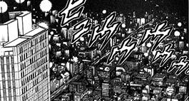 昼と夜で違う顔を見せる新宿の街並み。高層ビルからの夜景は、裏稼業に疲れた獠の心を癒やすほど綺麗。