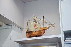 帆船の模型。