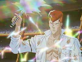 アニメ「幽☆遊☆白書」より桑原。幽助とは同級生でもある。