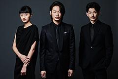 左から榮倉奈々、綾野剛、瑛太。