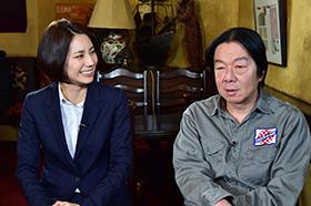 左から松下奈緒、古田新太。