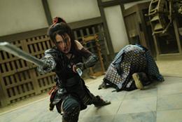 「BLACKFOX: Age of the Ninja」より、律花と重次の立ち回り。