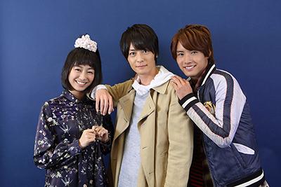 左から高田夏帆、犬飼貴丈、赤楚衛二。