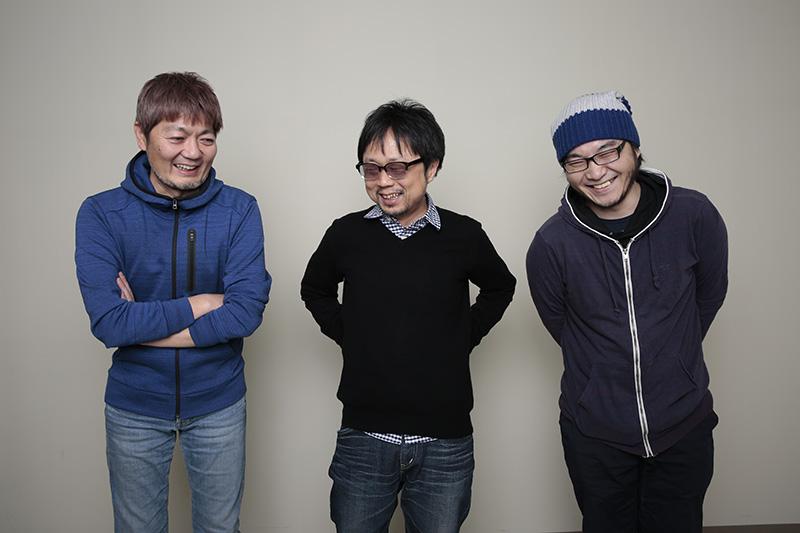 左から吉田健一、京田知己、佐藤大。