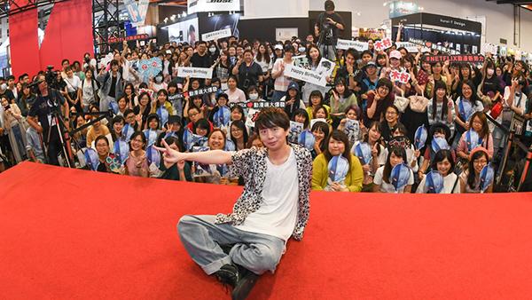 台湾漫画博覧会に参加した木村良平。