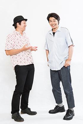 左から吉田恵輔、安田顕。