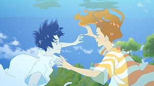 「きみと、波にのれたら」より、片寄涼太演じる港(左)と、川栄李奈演じるひな子(右)。