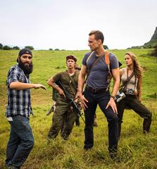 「キングコング:髑髏島の巨神」撮影現場の様子。