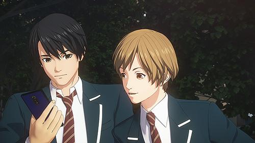 「ULTRAMAN」より、左から早田進次郎(CV:木村良平)、北斗星司(CV:潘めぐみ)。