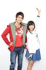 左から西川俊介、矢野優花。