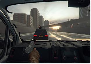 「PlayStation VR WORLDS」に収録されている「The London Heist」。