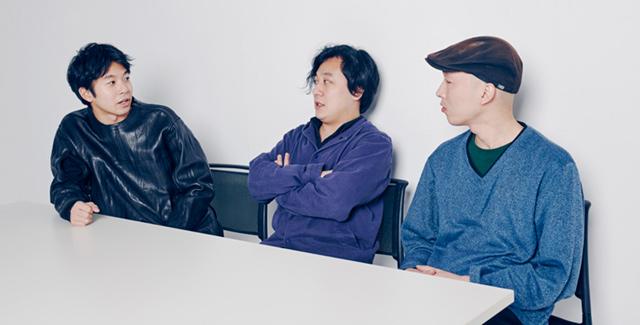 左から仲野太賀、中川龍太郎、梅原英司。