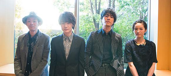 左から宮藤官九郎、神木隆之介、桐谷健太、清野菜名。