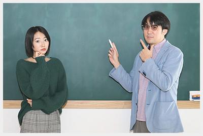 左から武田玲奈、サンキュータツオ。