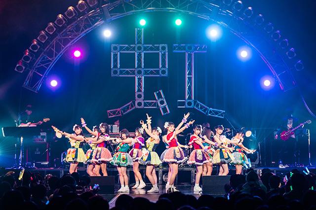 虹のコンキスタドール「RAINBOW JAM2019 –WINTER-」東京・Zepp Tokyo公演の様子。(写真提供:キングレコード)