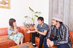左から安藤裕子、大橋卓弥、常田真太郎。