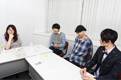 左から吉村愛、山内総一郎(Vo, G)、加藤慎一(B)、金澤ダイスケ(Key)。