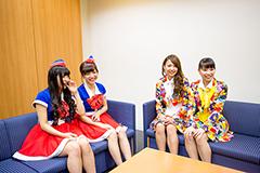 左から根岸愛、槙田紗子、志村理佳、宮崎理奈。